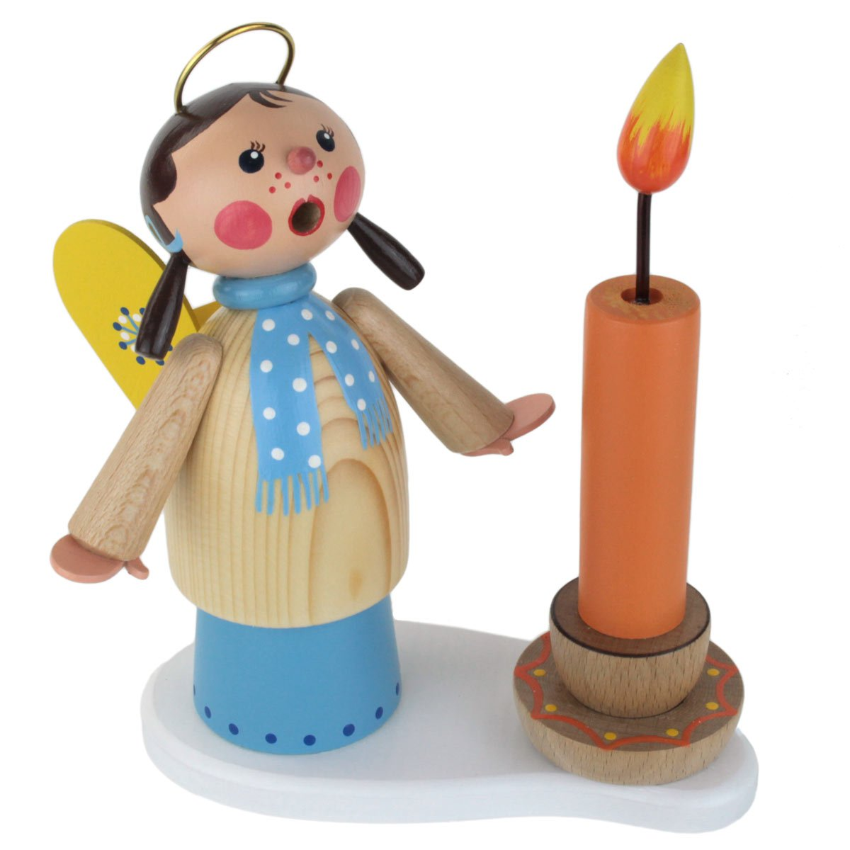 Dregano Angel Girl Candle Smoker Made in Germany