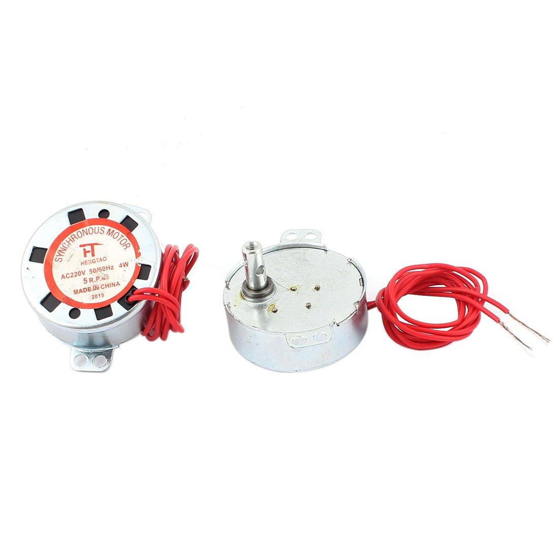 sourcingmap 2 pzas. AC 220V 4W 50/60Hz 5RPM 2 Cables Horno De ...