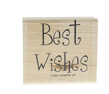 Amazon.com: Stampin Up Best Wishes Sentiments Words Writing Wooden ...