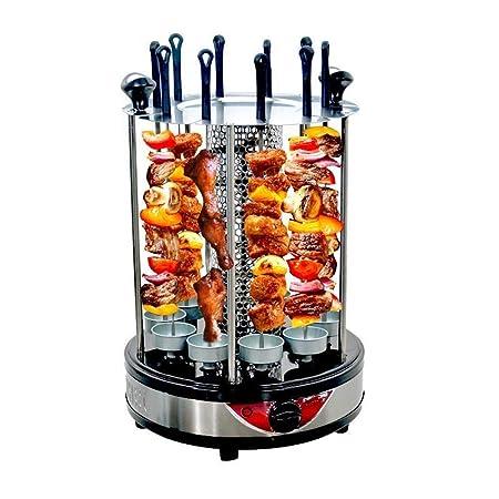 Parrilla eléctrica giratoria automática sin humo, para ...
