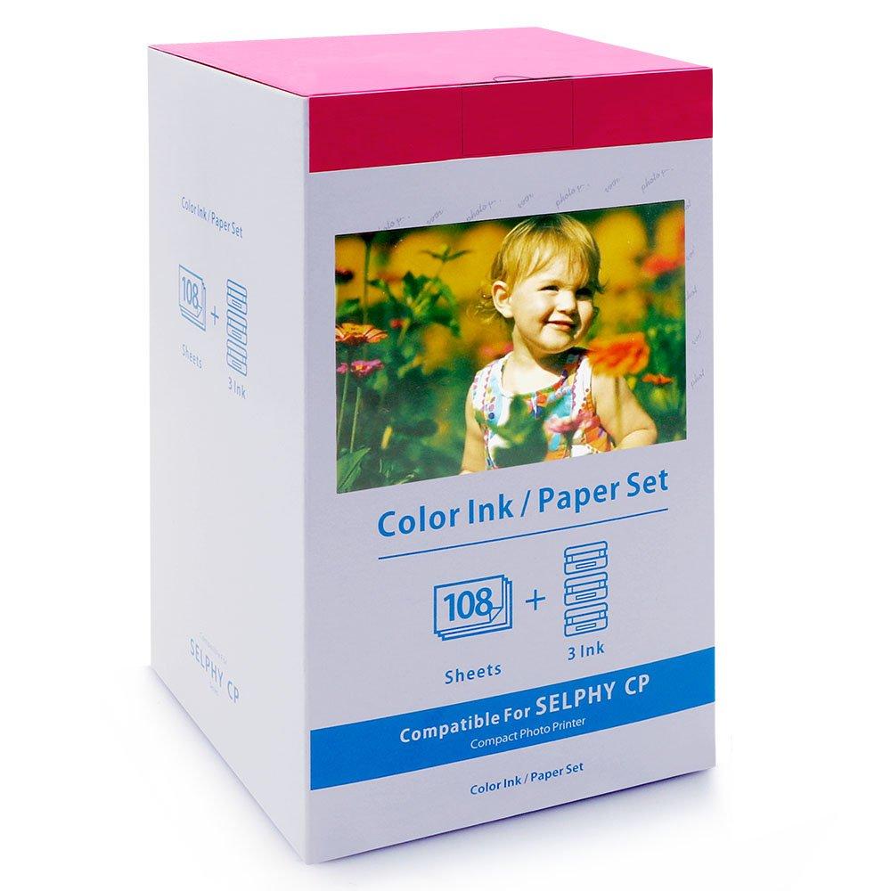 colorty compatibile con Canon KP-108IN Carta inchiostro set -3x 91, 4x 10, 2cm X 6cartolina 2cm X 6cartolina MarkField
