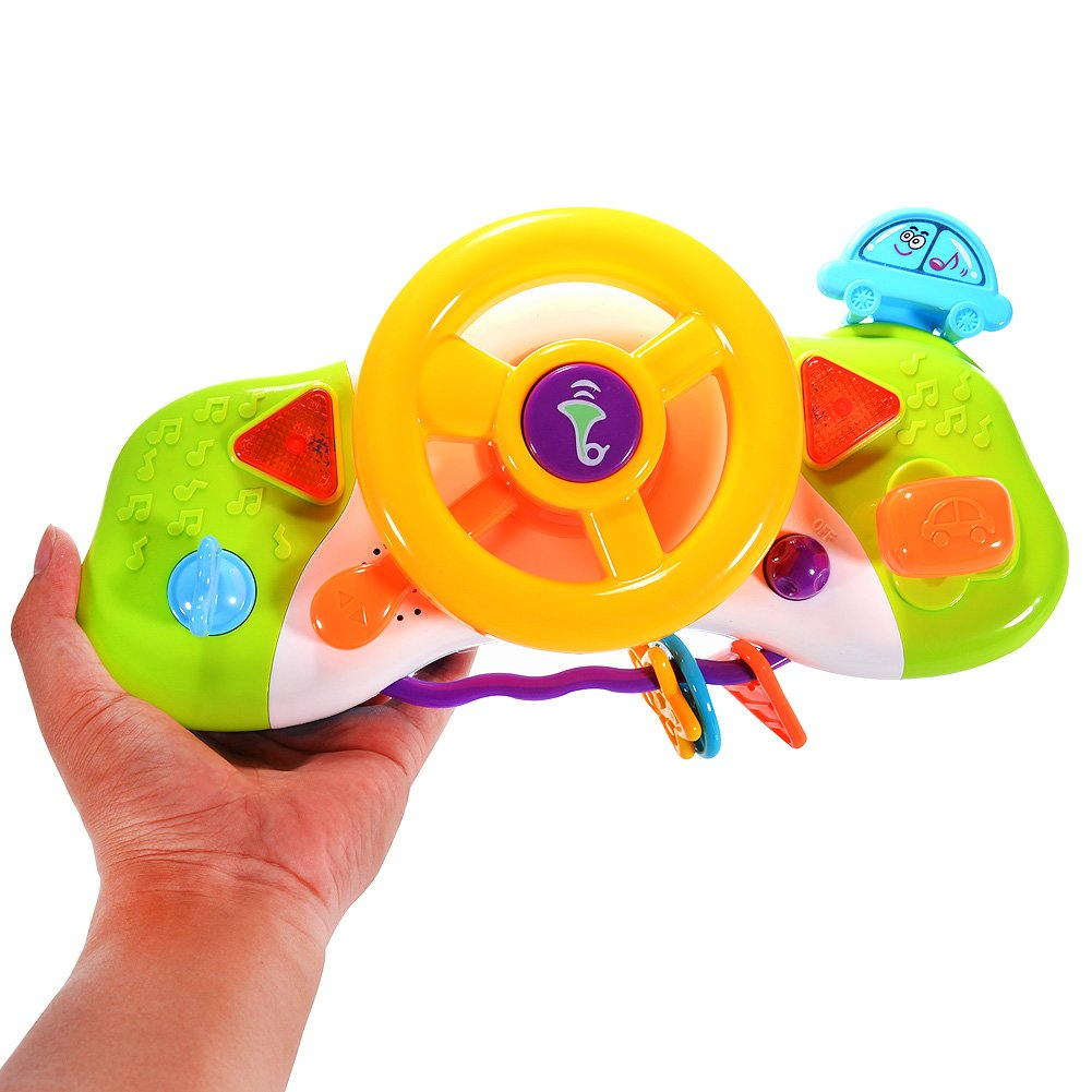 Steering Wheel Toys for Kids with Music and Light FunsLane .