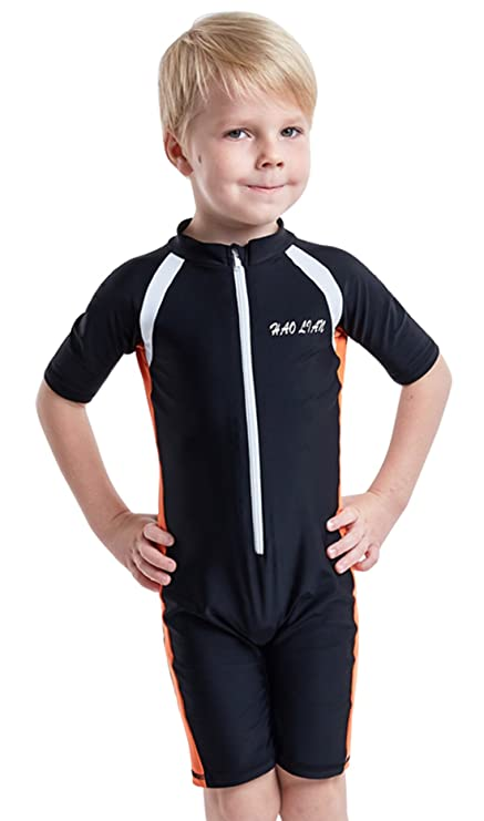 5d1a35c446598 HaoLian Youth UPF 50+ Surfing Suit Scuba Diving Suit Neoprene Waterproof  Front Zip Swim Wear