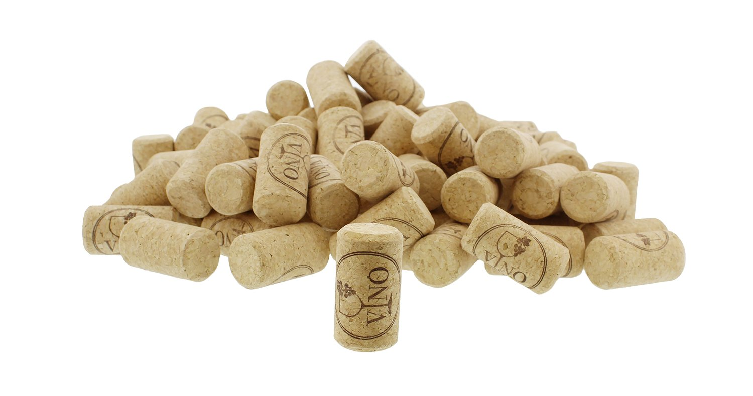 Straight #9 Cork 100-Pack – New, Non-Recycled, Synthetic Cork Stoppers for Standard to Large Wine Bottles