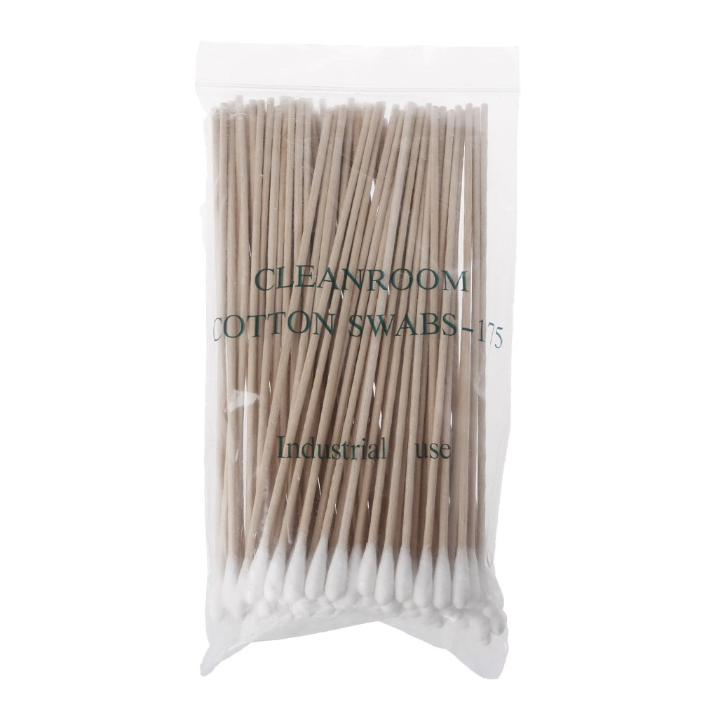 Baiyao 100Pcs/Set Cotton Swabs Wooden Handle Single-Head Cotton Swab Cotton Buds Long Wood Handle Cotton Tip Applicator Q-tip For Wound Care Crafts
