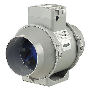 Blauberg Reino Unido turbo-125-t Blauberg Turbo flujo mixto en línea ventilador Extractor con temporizador de correr en 125 mm 1 gris: Amazon.es: Bricolaje ...