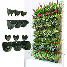 Self Watering Wall Mounted Vertical Planter,DIY Living Wall Flowerpot,Hanging Plants Holder,Indoor & Outdoor Decoration Planting Pot,One Set w/ 3-pockets and 4pc Filter Layer(1 set per pack)