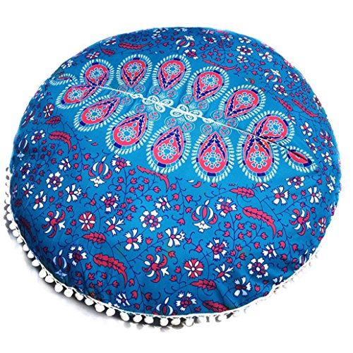 Clearance Sale,KIKOY Large Mandala Floor Pillows Round Bohemian