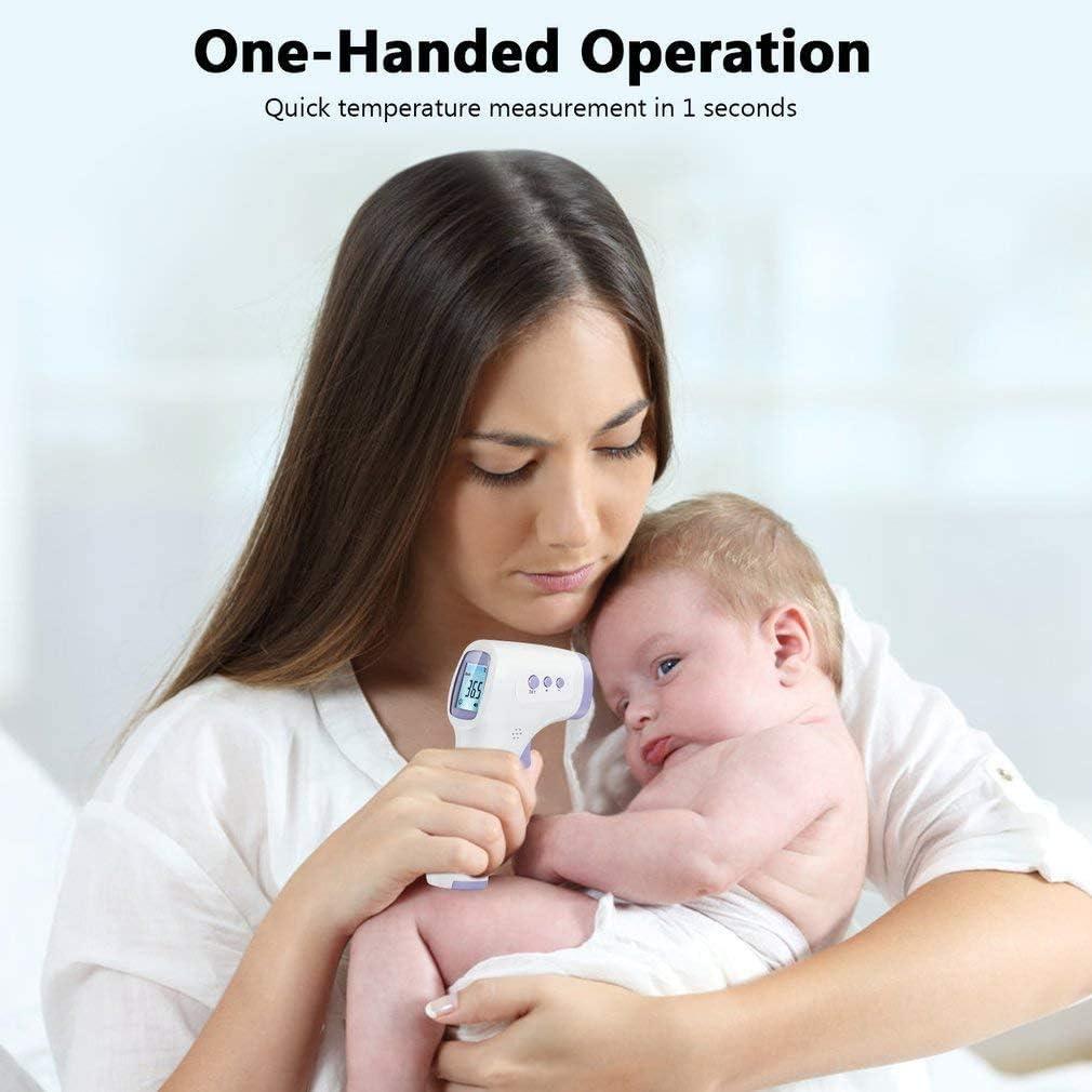 para beb/és Adultos term/ómetro Digital infrarrojo sin Contacto Profesional lecturas precisas instant/áneas FlowerDas Term/ómetro Frontal de Bebe Ni/ños ni/ños