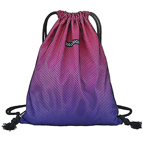 GADEWAKE Men & Women Sport Gym Sack Drawstring Backpack Bags Travel Storage Gradient Color Sackpack Shoulder Bags – DiZiSports Store