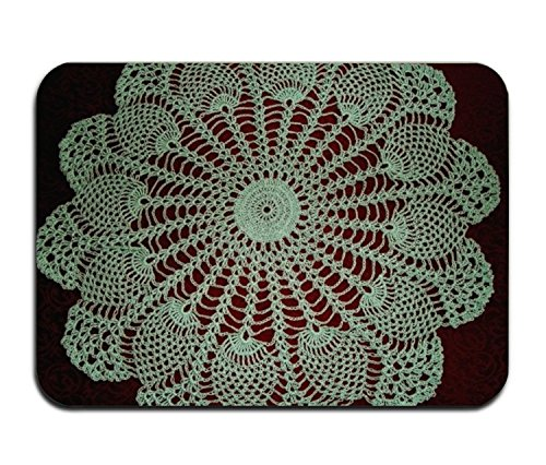 Door Mats Pineapple Mint Doily Custom Doormat (30x18) inch Machine Washable Home& Kitchen doormat