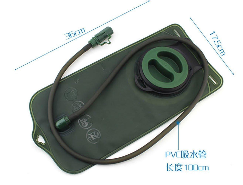 jiaqinsheng 2L Sistema de hidratación bolsa de agua bolsa mochila Camelbak Paquete Senderismo Campamento (verde militar)