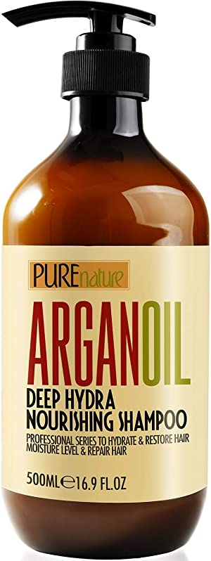Moroccan Argan Oil Shampoo SLS Free Sulfate Free, for Damaged, Dry, Curly or Frizzy Hair - Thickening for Fine / Thin Hair, Good for Color and Keratin Treated Hair