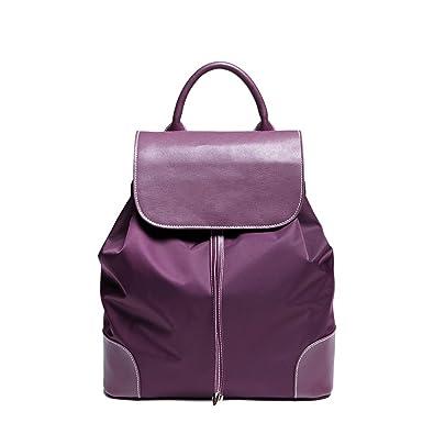 Amazon.com: Iuha Elegant lightweight Leather Nylon Backpack Bucket ...