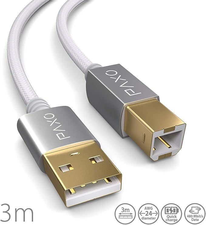 3m Nylon Usb Druckerkabel Weiß Usb A Stecker Auf Usb Elektronik