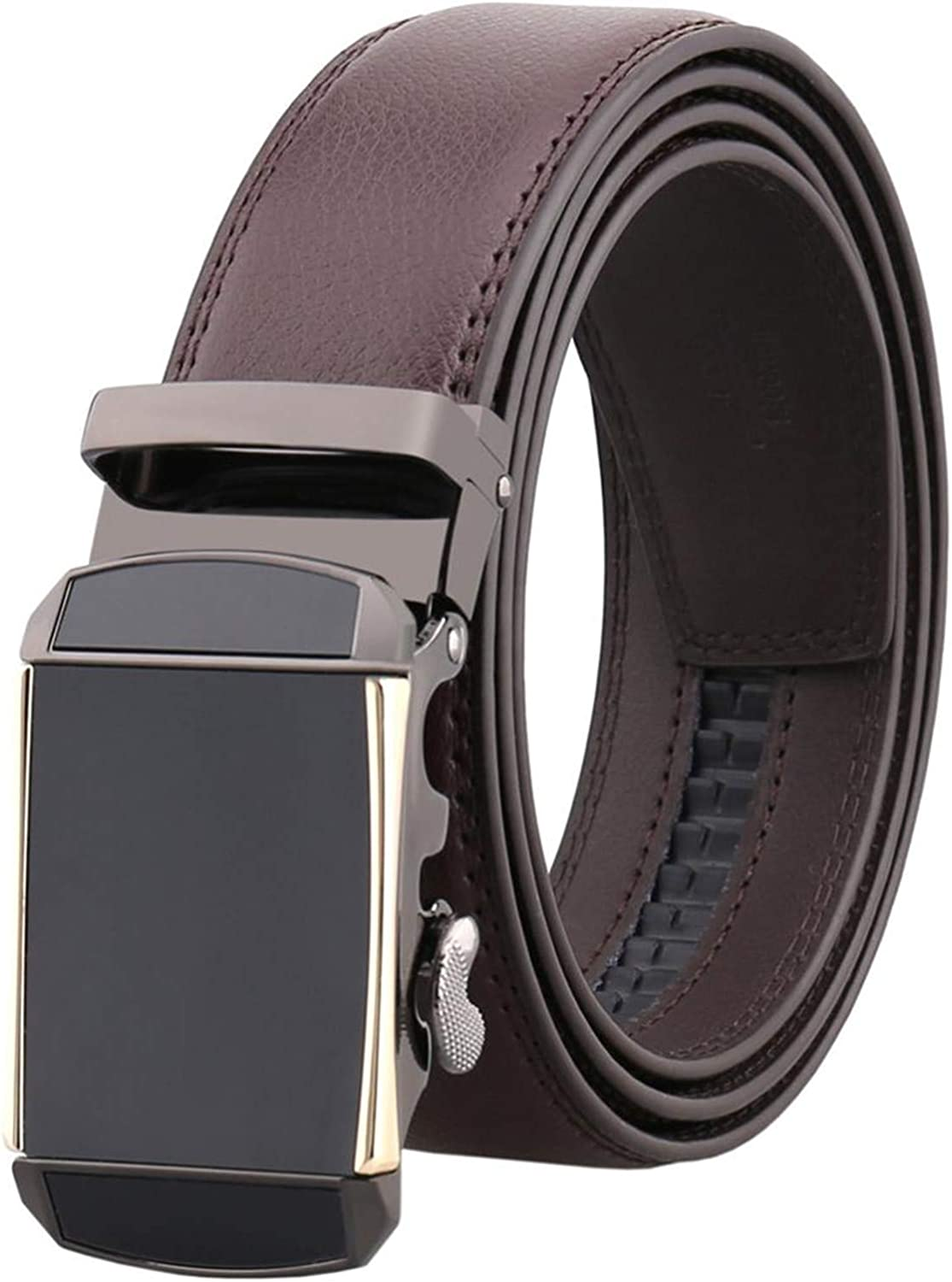 Men Belts Luxury Automatic Buckle Genune Leather Strap For Men Belt Black Brown