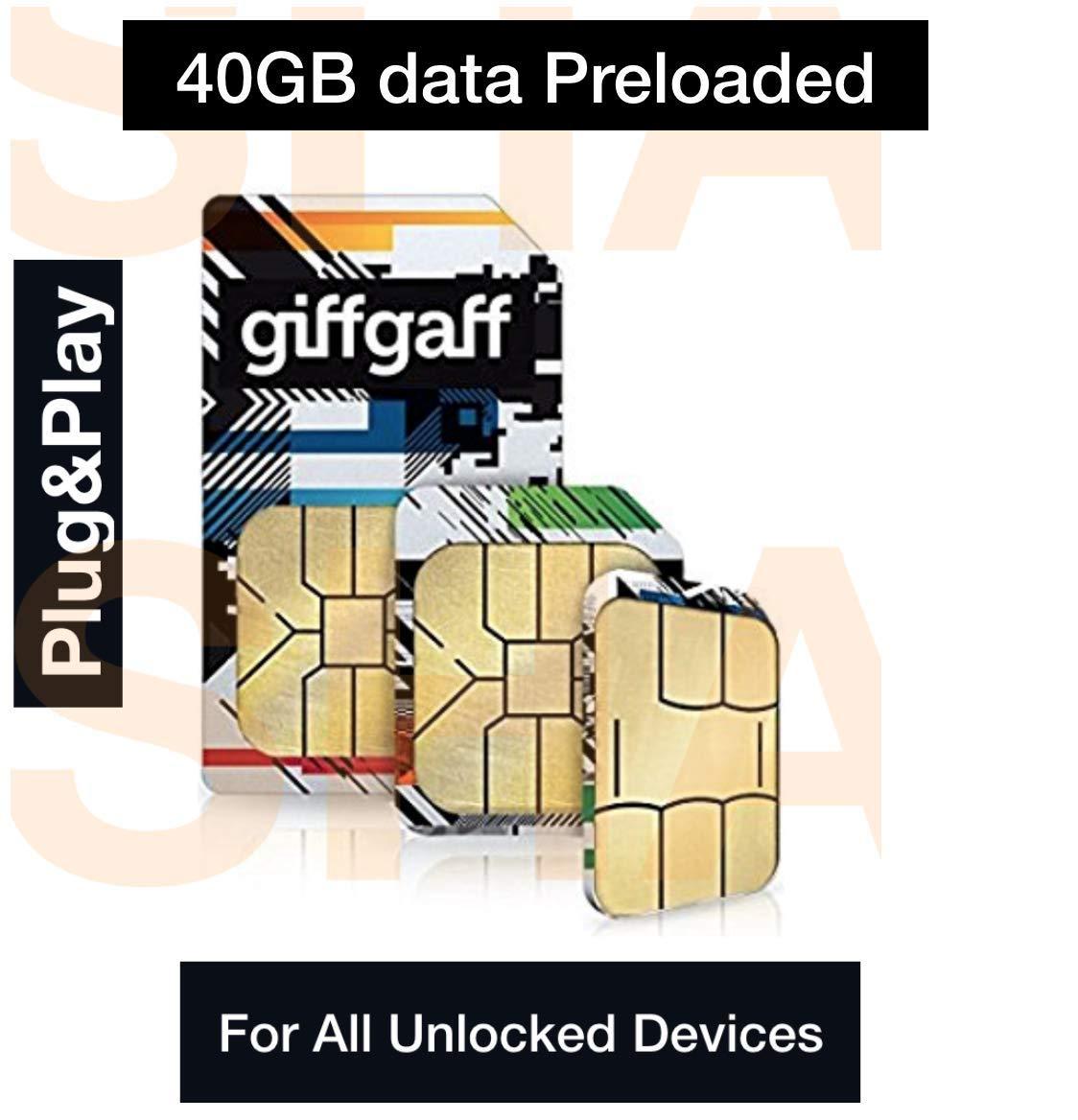 giffgaff - Tarjeta SIM de Banda Ancha 3G/4G precargada con Datos ...