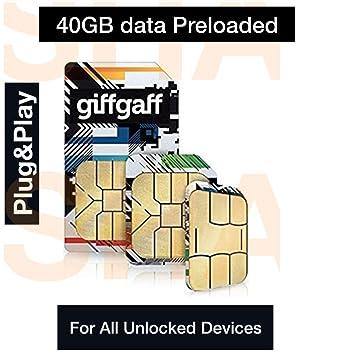 giffgaff - Tarjeta SIM de Banda Ancha 3G/4G precargada con ...