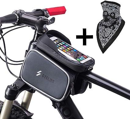 Bike Front Handlebar Bag 2L Polyurethane Sports Bicycle Top Tube Bag Waist Bag