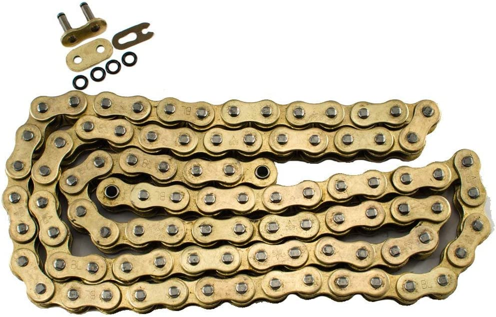 Max Motosports 630 Pitch 84 Links Gold O-Ring Chain for Kawasaki KZ650 CSR KZ750 1981 1982