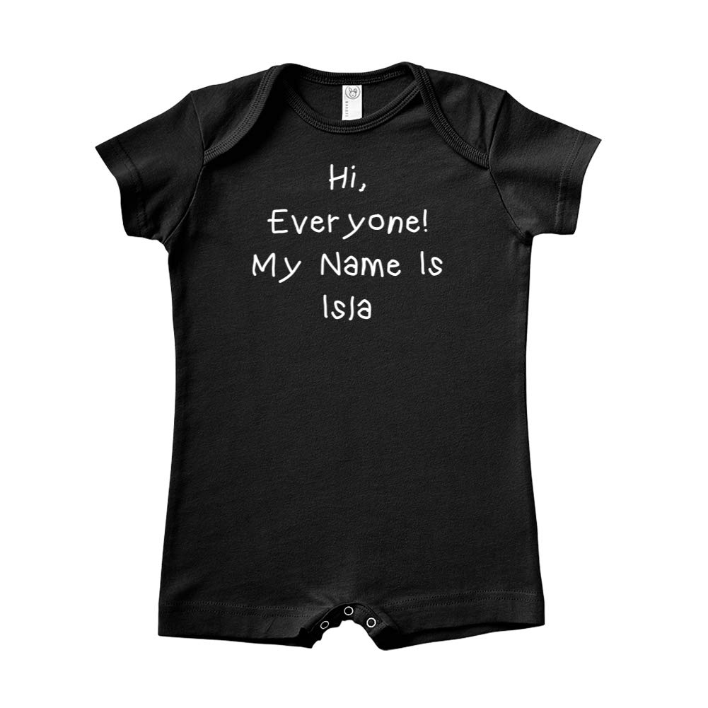 My Name is Isla Mashed Clothing Hi Everyone Personalized Name Baby Romper