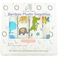 Manta de muselina para bebé de bambú, extragrande