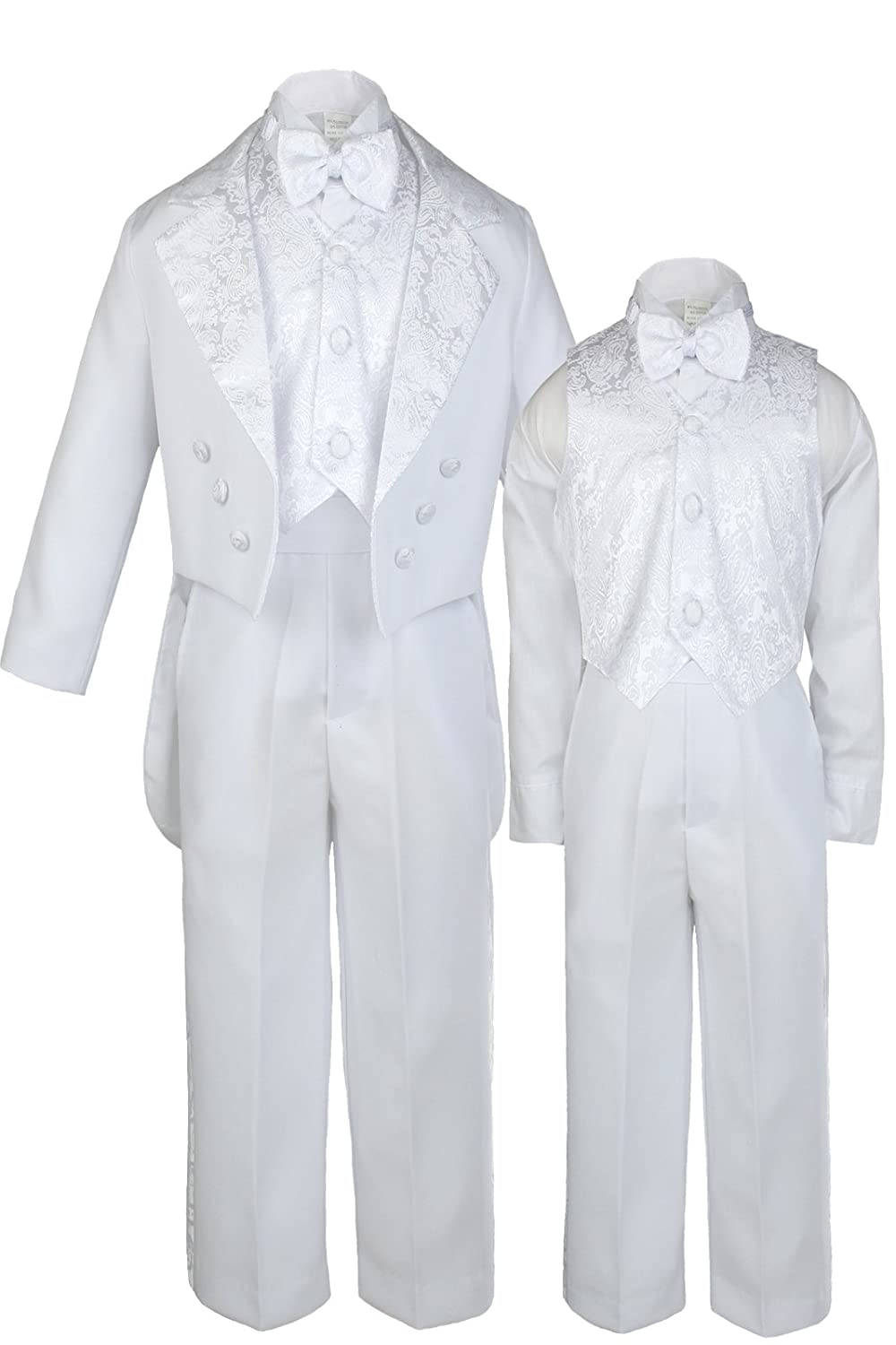 S: Unotux Baby Shower Boy Christening Baptism Suits Tuxedo White Tail Guadalupe S-7 0-6 months