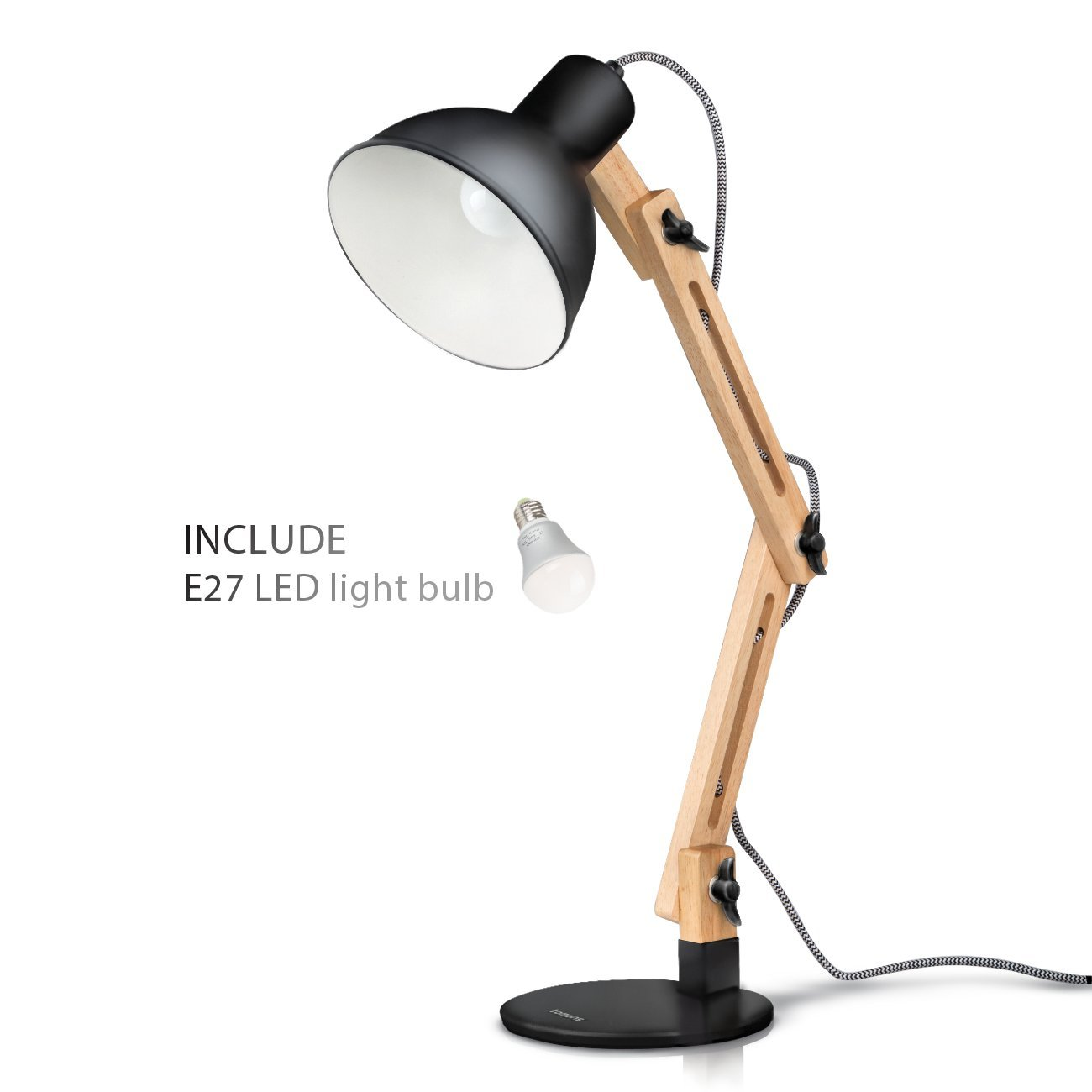 Tomons Dcoration Lampe de Table LED Lampe de Bureau Salon Design
