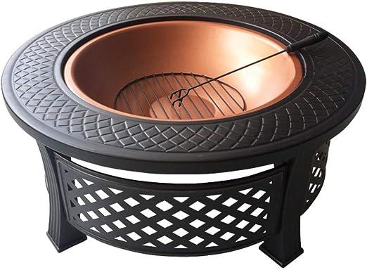 J- Brasero en jardín Fogón Tazón Barbacoa Estufa Estufa Al Aire Libre Patio Inicio Parrilla De La Barbacoa De Carbón Estufa Brasero De Carbón De Calefacción Interior Estufa Grill: Amazon.es: Hogar