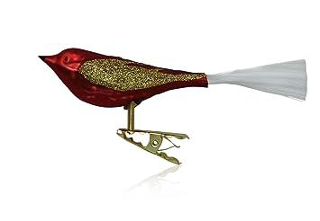 Amazon De Vogel Mit Glasschwanz Rot Glanz Matt 3 Stuck