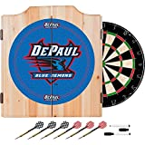 DePaul University Deluxe Solid Wood Cabinet Complete Dart Set - Officially Licensed!