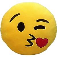 Emoji Emoticono Cojín Almohada Redonda Emoticon Peluche Bordado