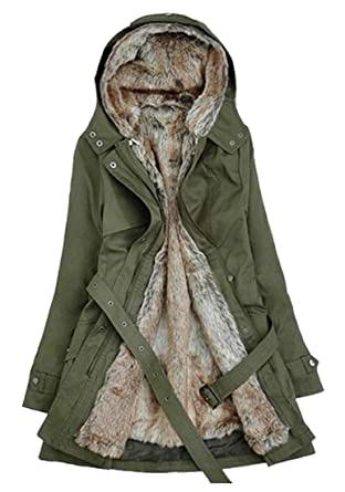 322ea094bbd Amazon.com  WAWAYA Womens Plus Size Winter Hooded Fleece Lined Quilted  Jacket Parka Coat Outerwear  Clothing