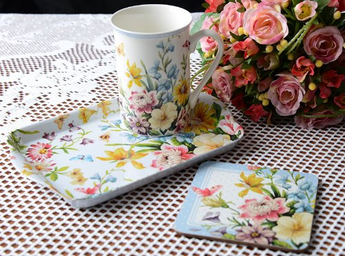 Katie alice - english garden time for tea mug, coaster & tray gift set (English Garden Teapot compare prices)