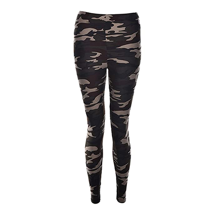 603d830b6f95de Amazon.com: The Hot Rock Punk S Women Army Green Stretch Leggings ...