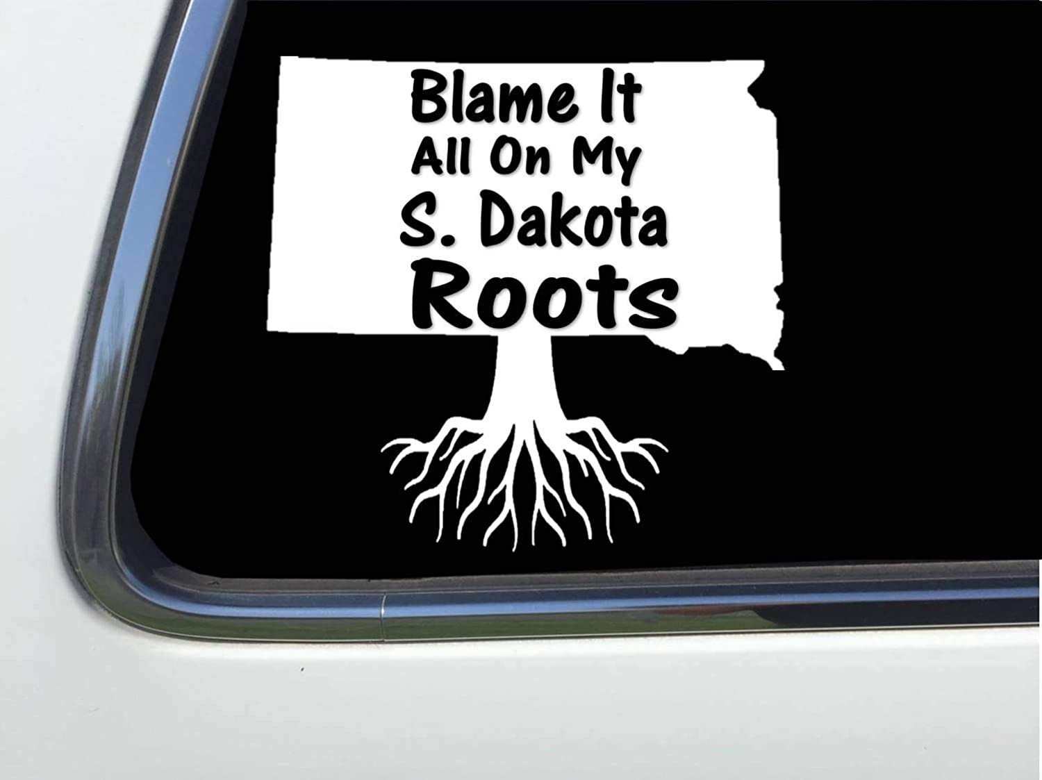 Blame It All On My Wyoming Roots 6 Sticker Decal HM1703 Thatlilcabin