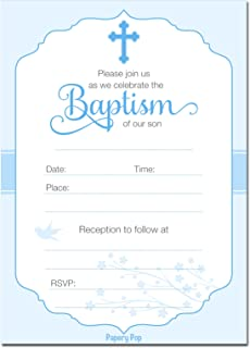 amazon com baptism invitations with envelopes 25 pack for first