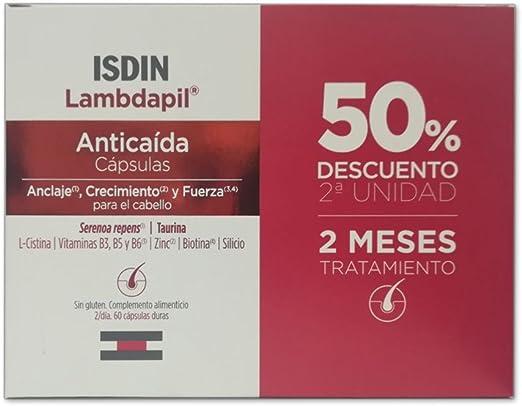 Pack Lambdapil Isdin anticaida duplo 60 + 60 cápsulas: Amazon.es ...