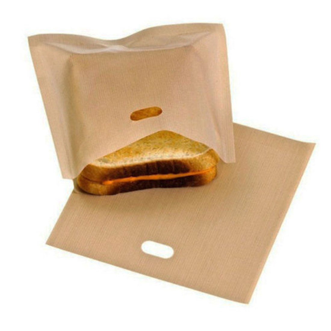 NeeJee Non-stick Toaster Bag Toastied Oven Sandwish Reusable Baking Pocket-Pack of 2,6.7