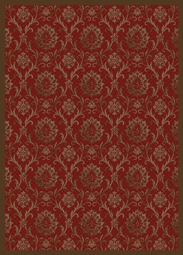 """Concord Global Rugs Mooresville Collection Damask Black Rectangle 2'3"""" x 7'3"""" Area Rug from Concord Global Trading"""