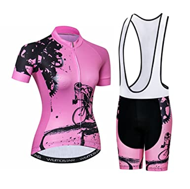 d6b0a3cc Amazon.com: Womens Cycling Jersey Sets Sports Breathable Padded ...