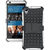 Heartly Flip Kick Stand Spider Hard Dual Rugged Armor Hybrid Bumper Back Case Cover For HTC Desire 626 626G+ - Power Blue
