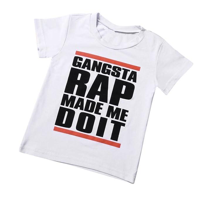 Amazon.com: Camiseta de manga corta para niños de 1 a 6 años ...