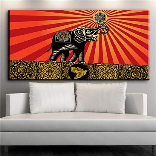 Arte de pared afroamericano negro abstracto retrato mujer ...