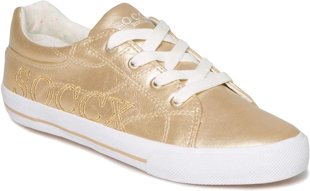 Soccx Damen Metallic Sneaker Low: : Schuhe