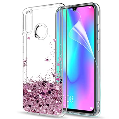 newest 1a2a0 522e5 LeYi Case for Huawei P Smart 2019 with Screen Protector, Girl Women 3D  Glitter Liquid Cute Personalised Clear Silicone Gel TPU Shockproof Phone  Cover ...