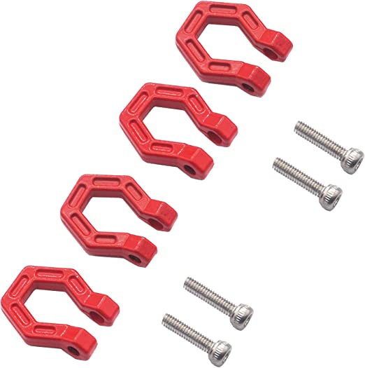 4Pack Mirthobby RC Car Trailer Buckle,Metal Tow Shackle Front Bar Rescue Lock Hook Ring for Axial SCX10 Tamiya CC01 D90 Traxxas TRX-4 1//10 RC Climbing Crawler Car