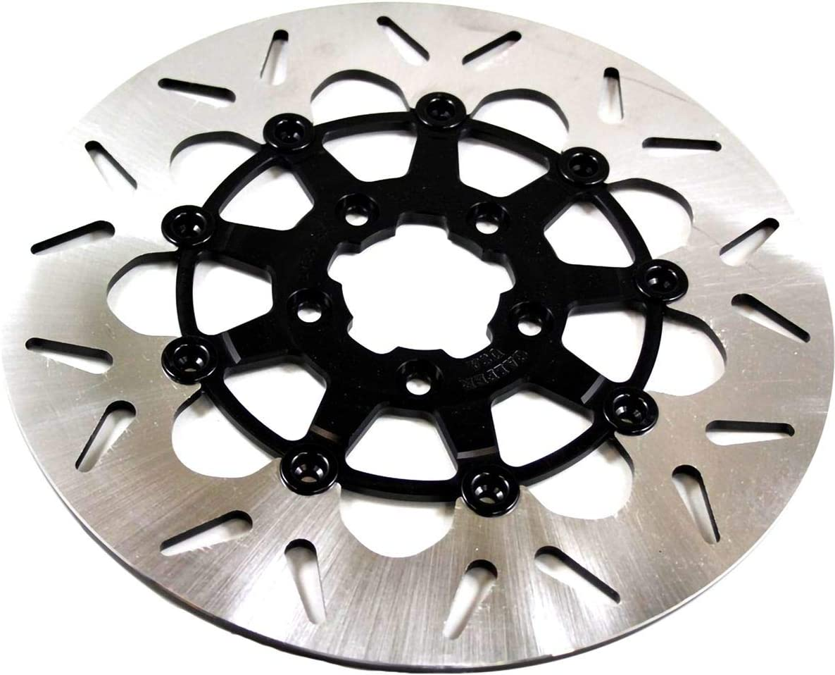 Front Front Galfer 08-13 Harley FLHX2 Floating Wave Brake Rotor Black Contrast Cut