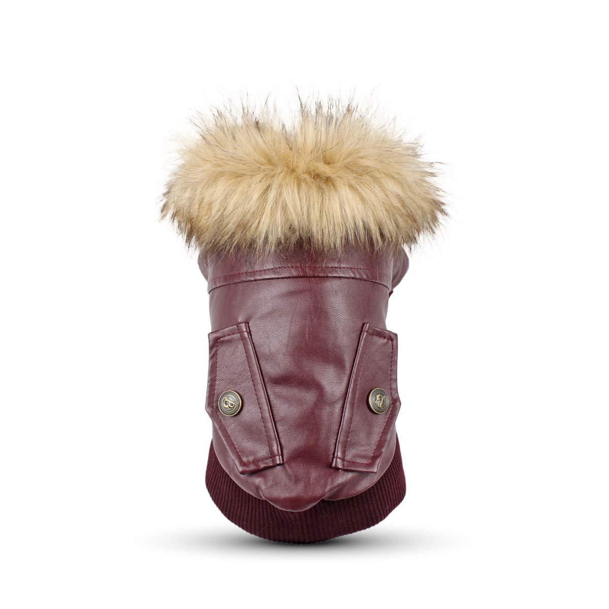 PETCUTE Abbigliamento invernale per cani, accogliente giacca da cucciolo, cappotti per cani, vestiti caldi per animali domestici, abbigliamento per cani