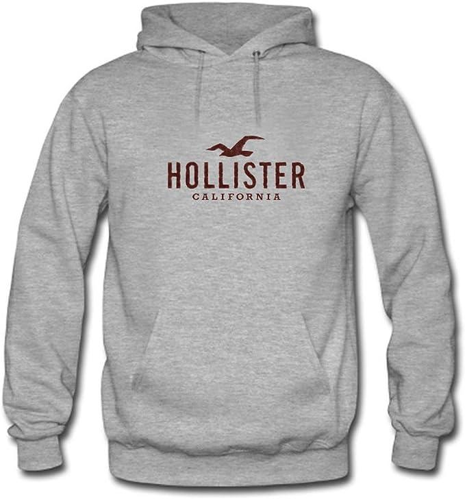 Sudadera Hollister California con capucha, para hombre, diseño con logotipo impreso Gris gris XXX-Large: Amazon.es: Ropa y accesorios